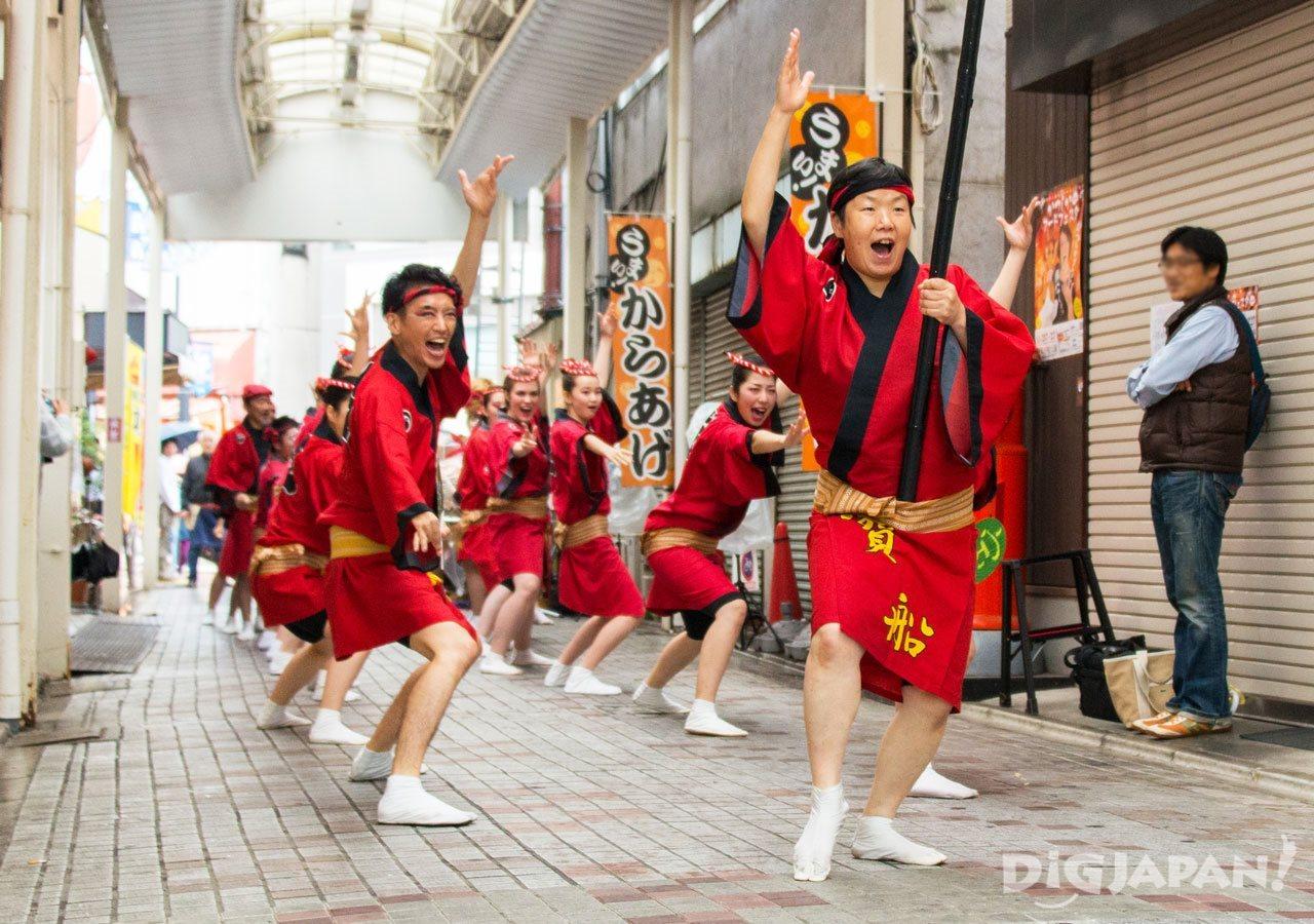 Awa Odori festival dancers Tokyo festival