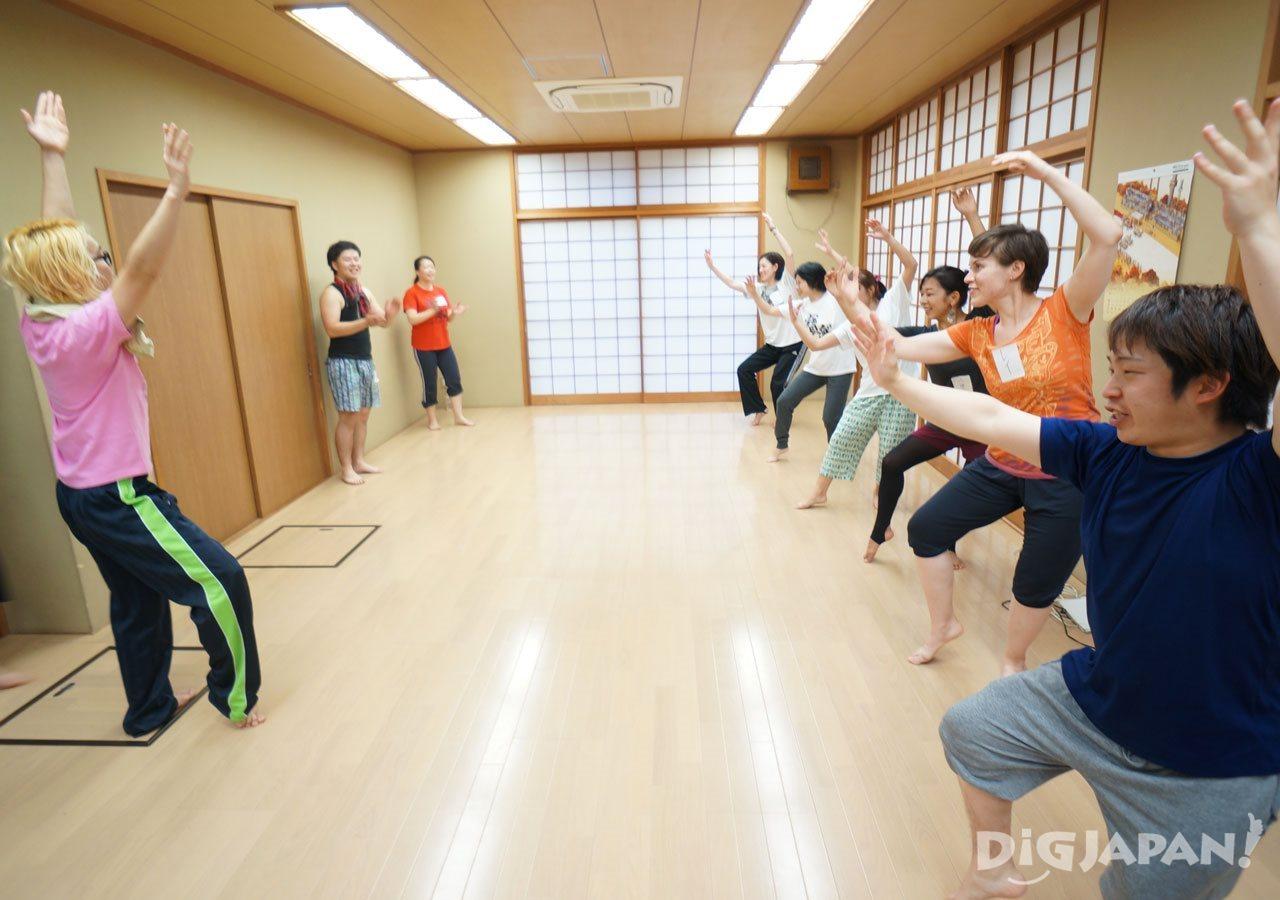 Awa Odori practice Takarabune