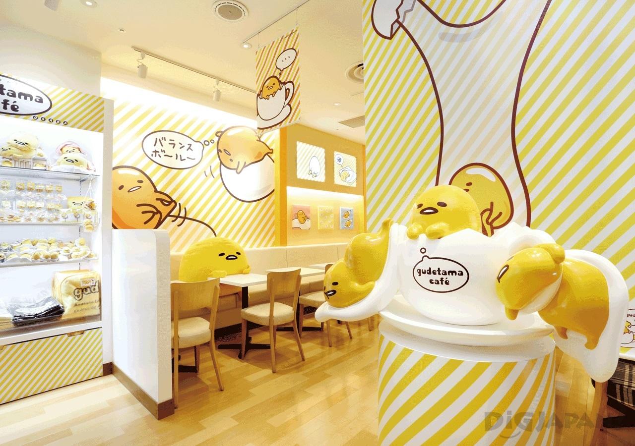 Gudetama Cafe Osaka Interior 1