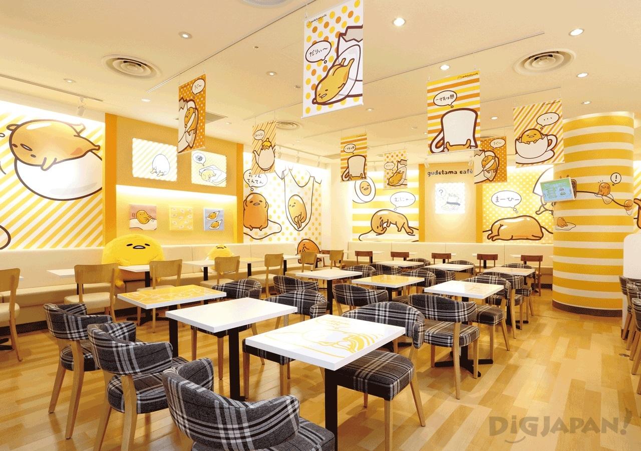 Gudetama Cafe Osaka Interior 2