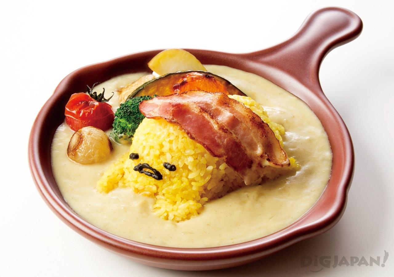 Gudetama Cafe Osaka food 1