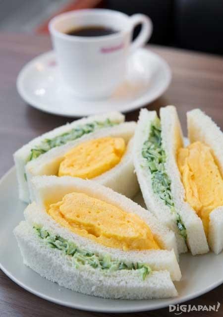 나고야 게스트하우스 니시아사히 인기 메뉴 계란 샌드위치