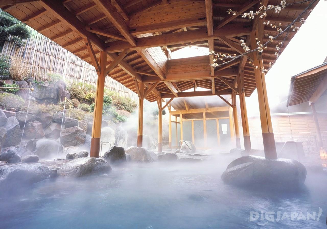 岡田飯店-戶外的露天浴池