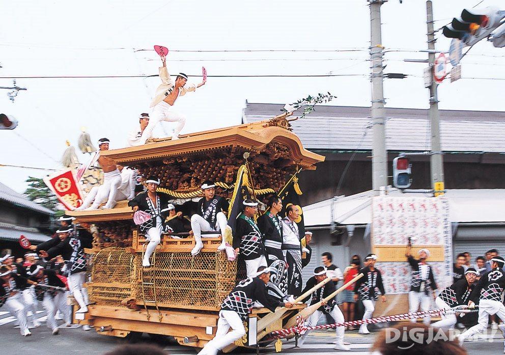오사카 키시와다 단지리 축제 1