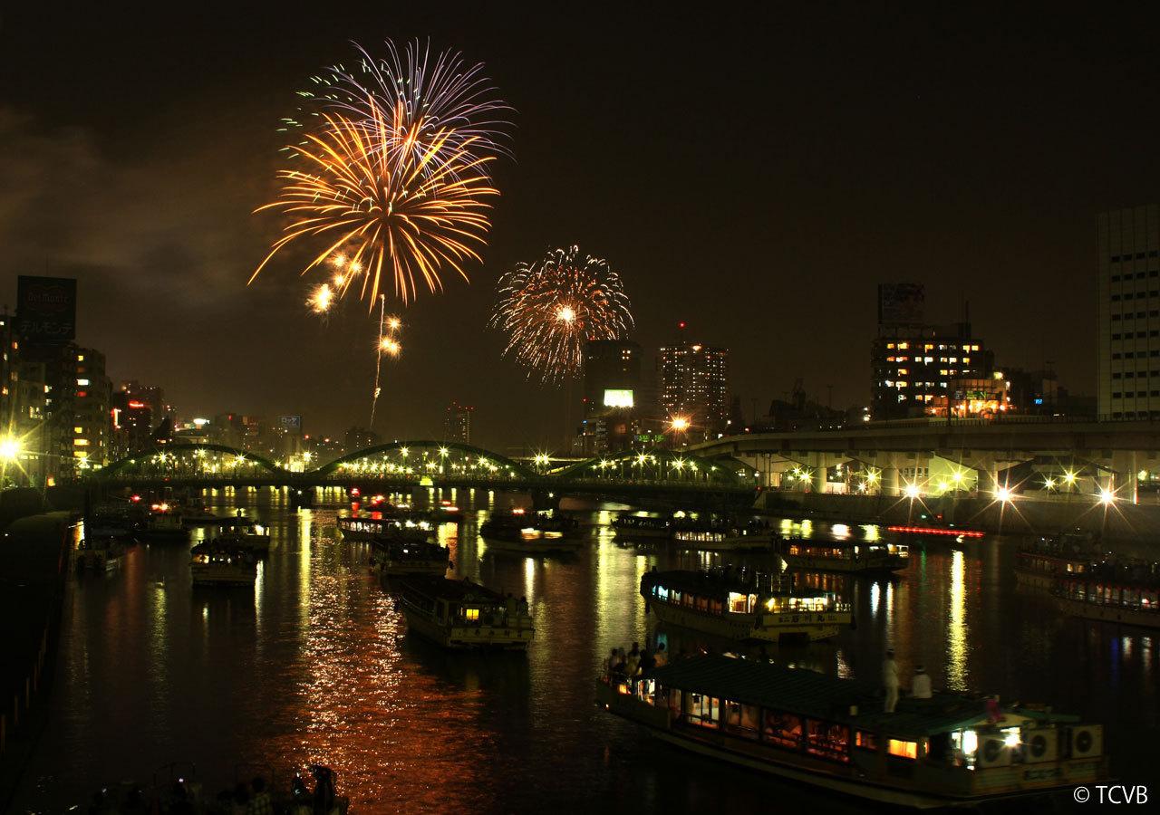 도쿄 스미다가와 강 불꽃놀이 1