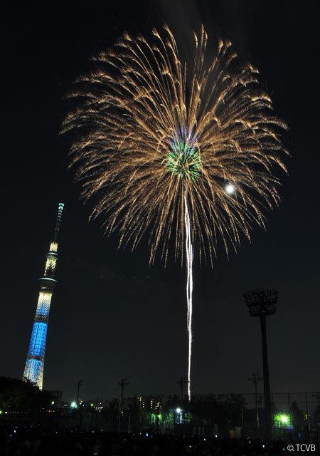 도쿄 스미다가와 강 불꽃놀이 2