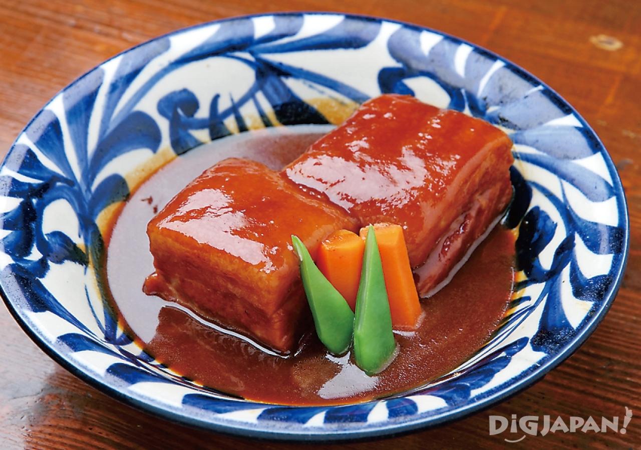 오키나와 현지 음식 로컬푸드 장조림 라후테