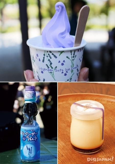 홋카이도의 후라노의 여름 라벤더 디저트