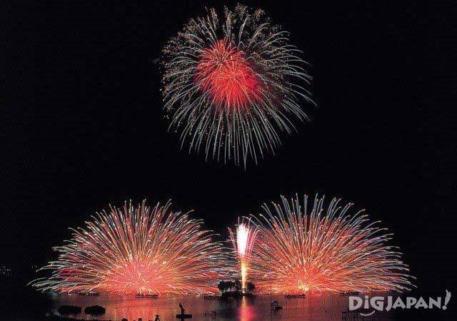 Suwako Fireworks Festival Nagano