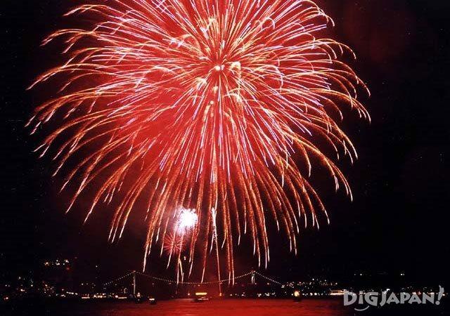 Suwako Fireworks Festival Yamaguchi Fukuoka