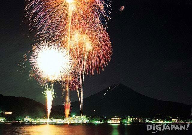 Lake Kawaguchiko Fireworks Festival Yamanashi
