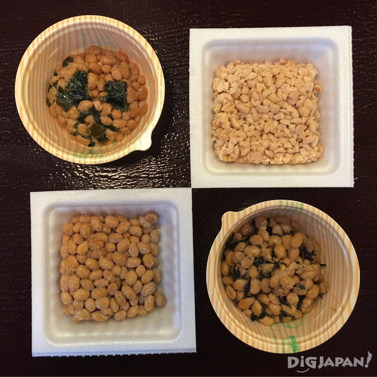 more kinds of natto at sendai-ya