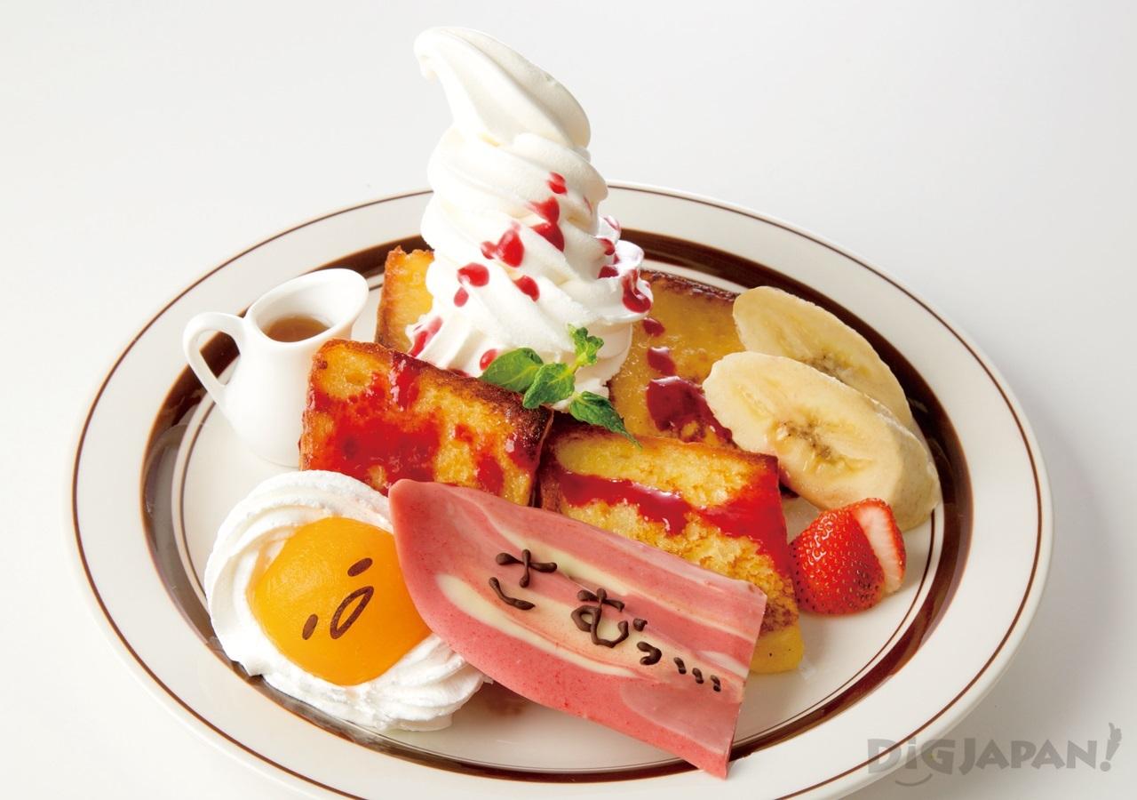 Gudetama Cafe Osaka dessert 3