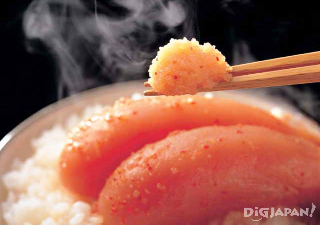 멘타이코는 흰밥과 함께 먹으면 너무 맛있어요