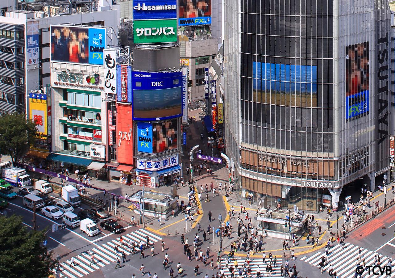 Shibuya Crossing Tokyo Starbucks Scramble