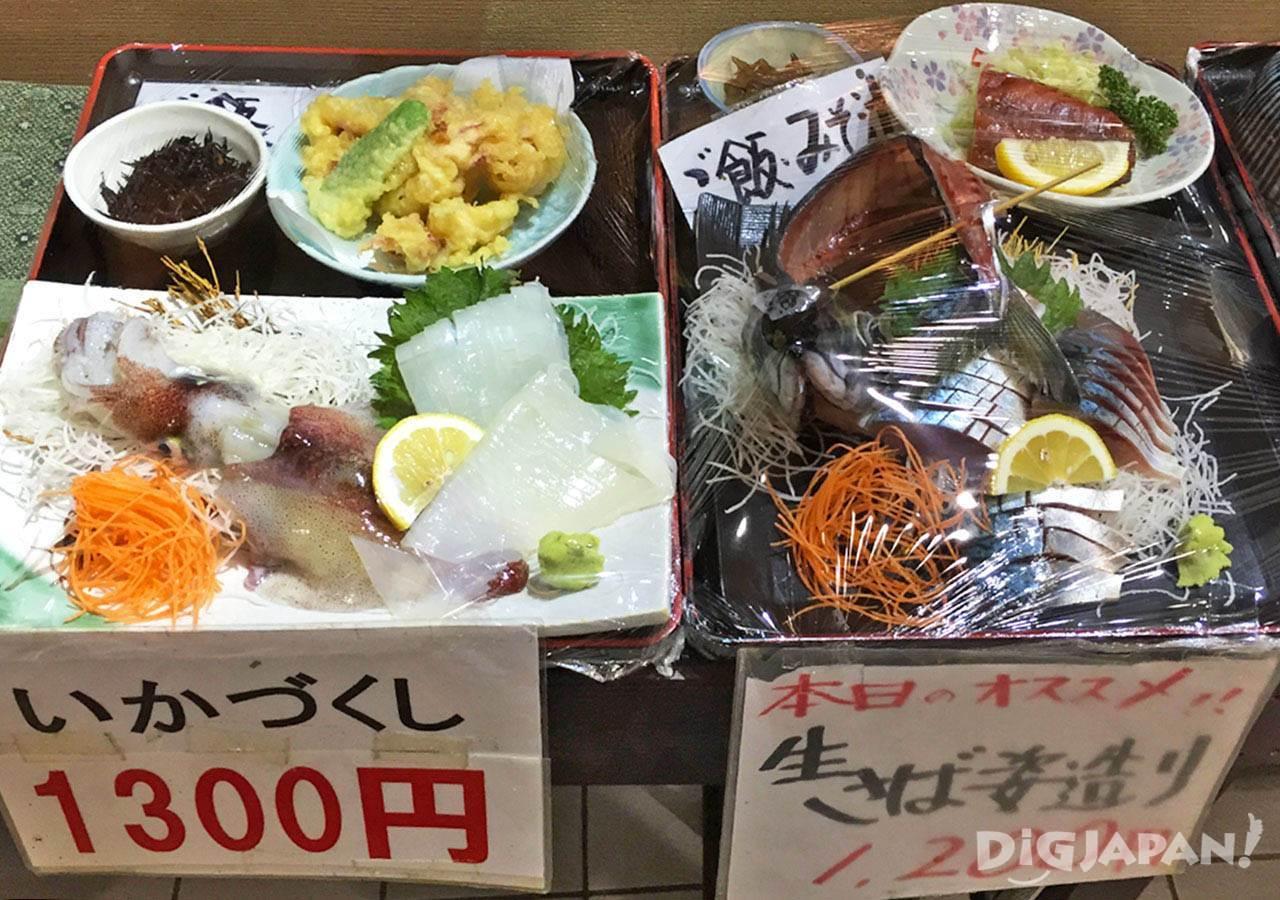 ตลาดปลานากาฮามะ_หน้าร้านอาหาร