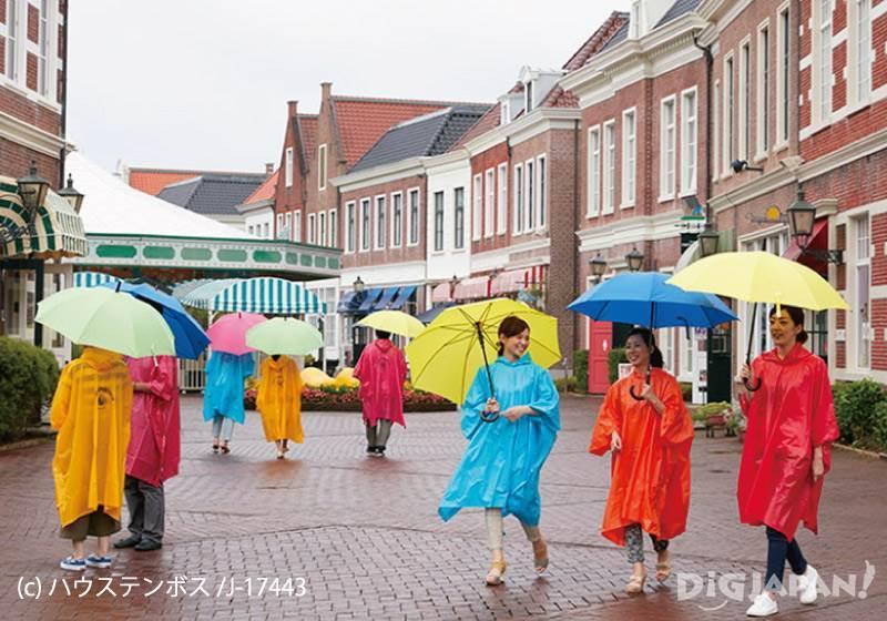 Huis Ten Bosch_เสื้อกันฝน