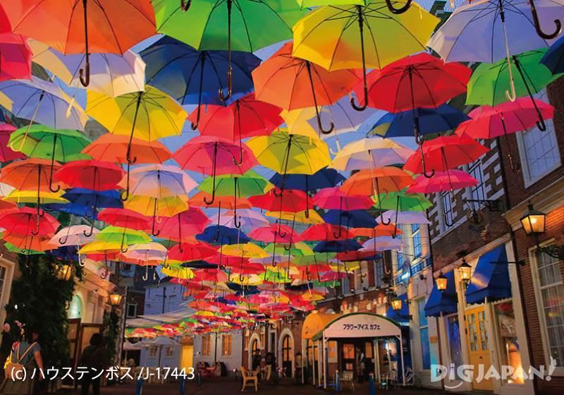 Huis Ten Bosch_Umbrella Street กลางคืน1