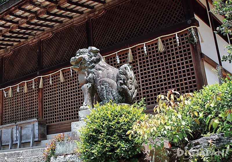 Ujigami-jinja Shrine Kyoto komainu