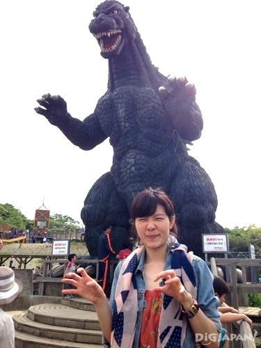 横須賀市のくりはま花の国にあるゴジラの滑り台