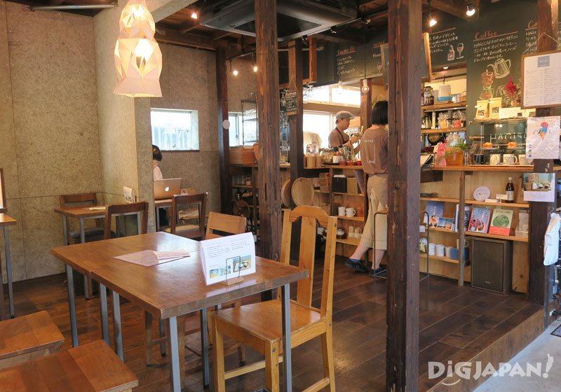 HAGI CAFE inside HAGISO of hanare hotel in yanesen, tokyo
