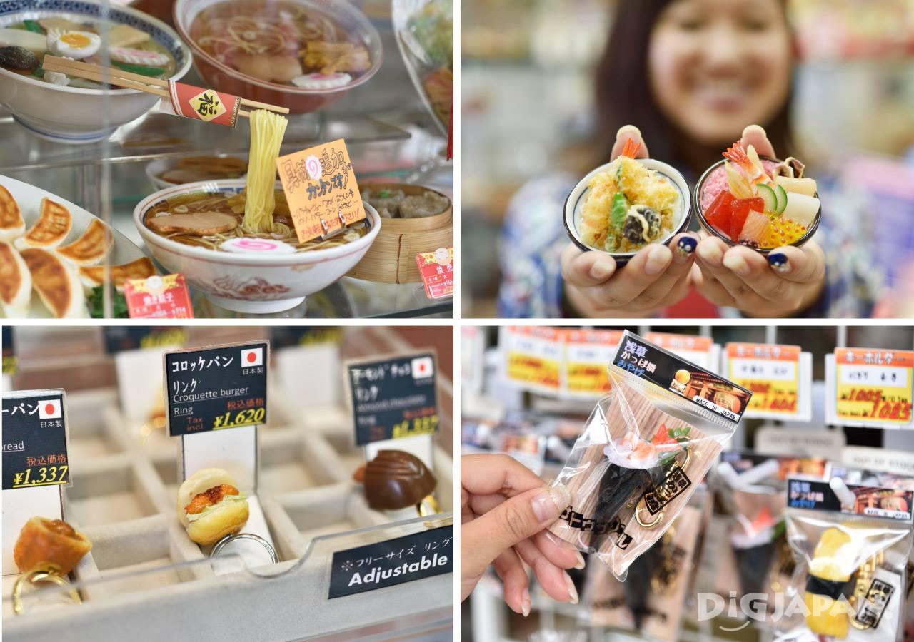 壽司等種類豐富的食品模型