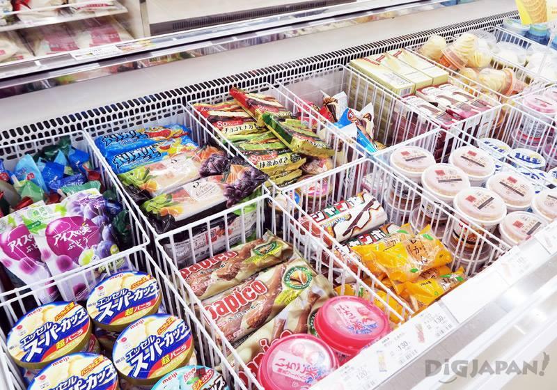 일본 편의점 아이스크림 냉동고