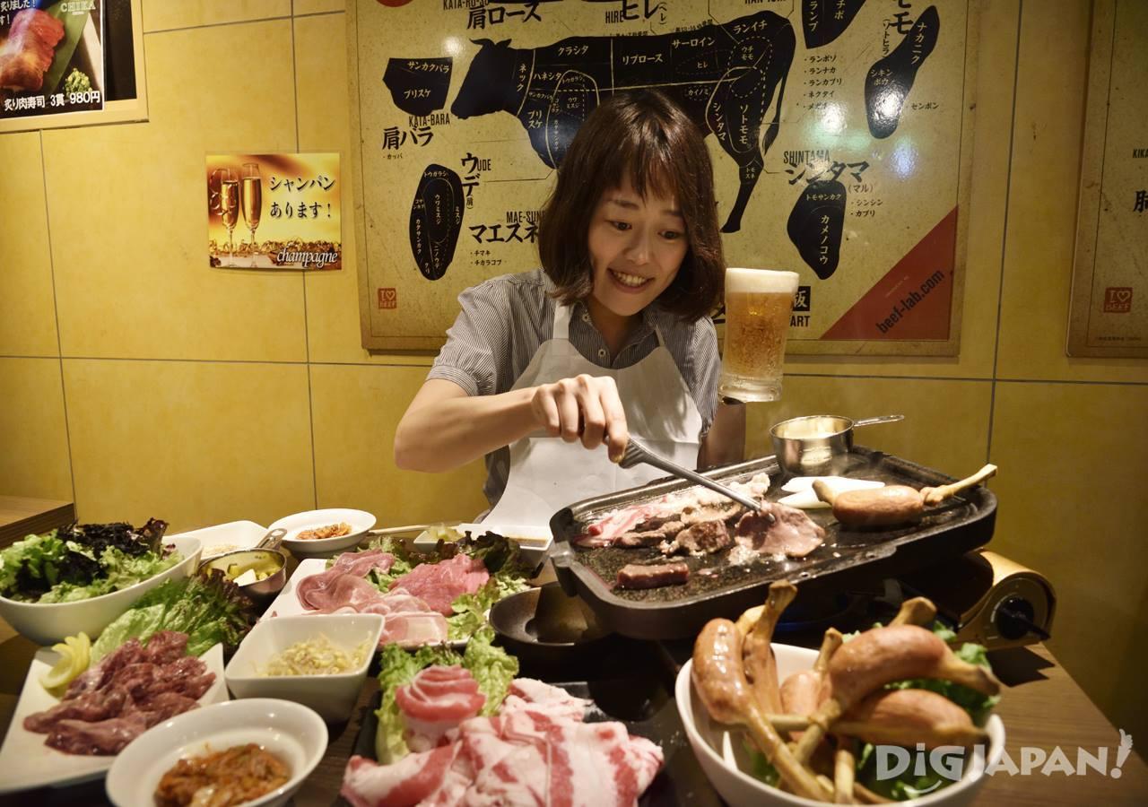 肉CHIKAの焼き肉食べ放題