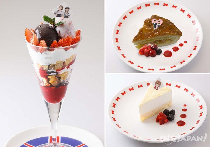 左:熱帶草莓聖代、右上:新一喜歡的檸檬派、右下:灰原親手做的起士蛋糕