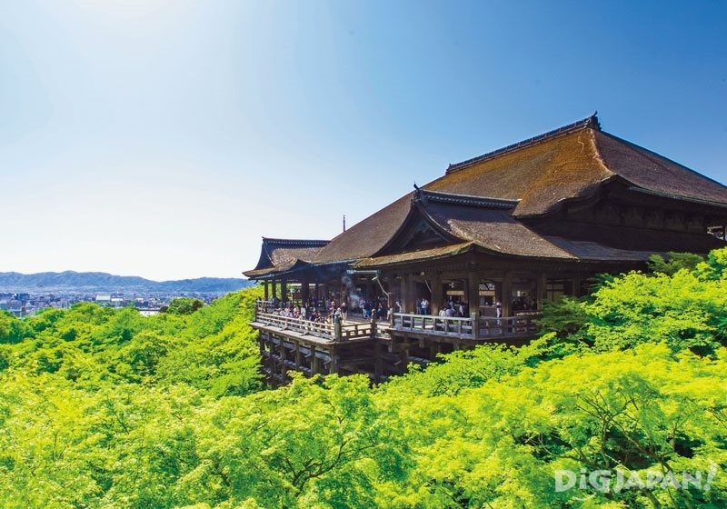 Kiyomizu Stage during the summer.