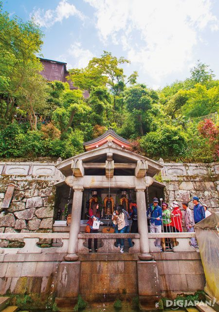 Otowa Waterfall inside Kiyomizu-dera in Kyoto