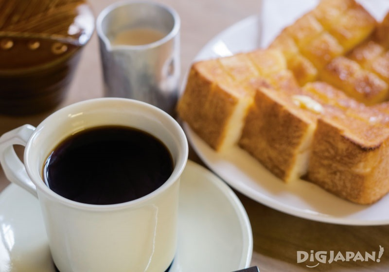 교토 클래식 카페 도겐쿄 음식