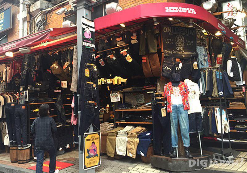 เดินเที่ยวตลาดอาเมะโยโก_ร้านกางเกงยีนส์