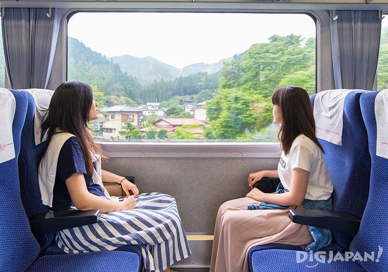 """""""จิจิบุ"""" มาที่เดียวเที่ยวได้ทุกแบบ!_ภายในรถไฟ NRA"""