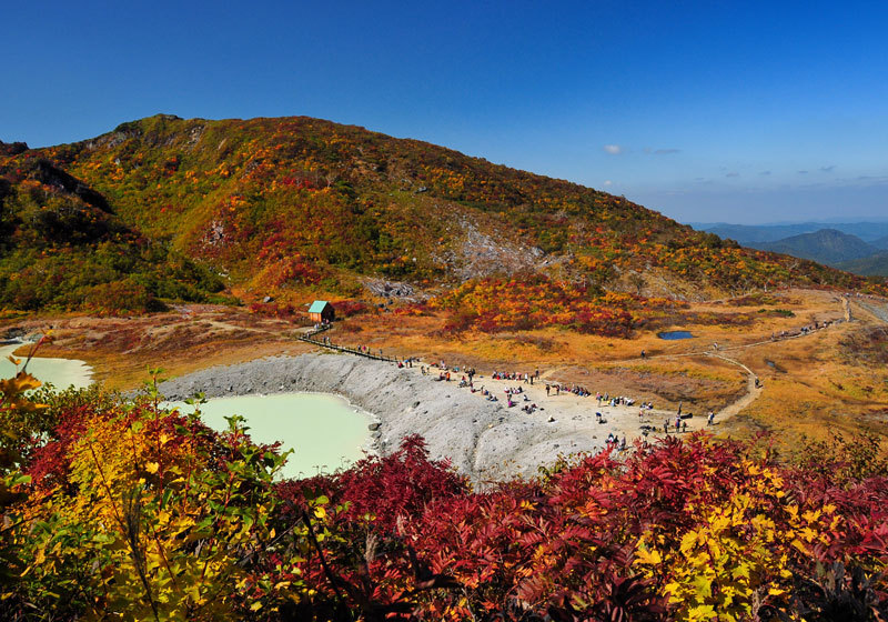 Fall foliage at Kurikoma Yama in Iwate Prefecture 1