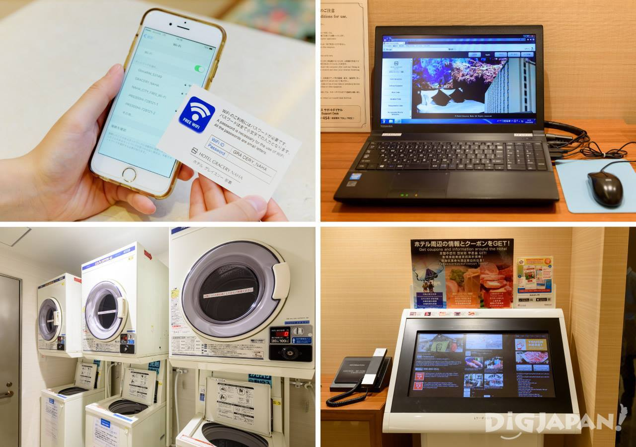 Free Wifi at Hotel Gracery Naha and other useful facilities