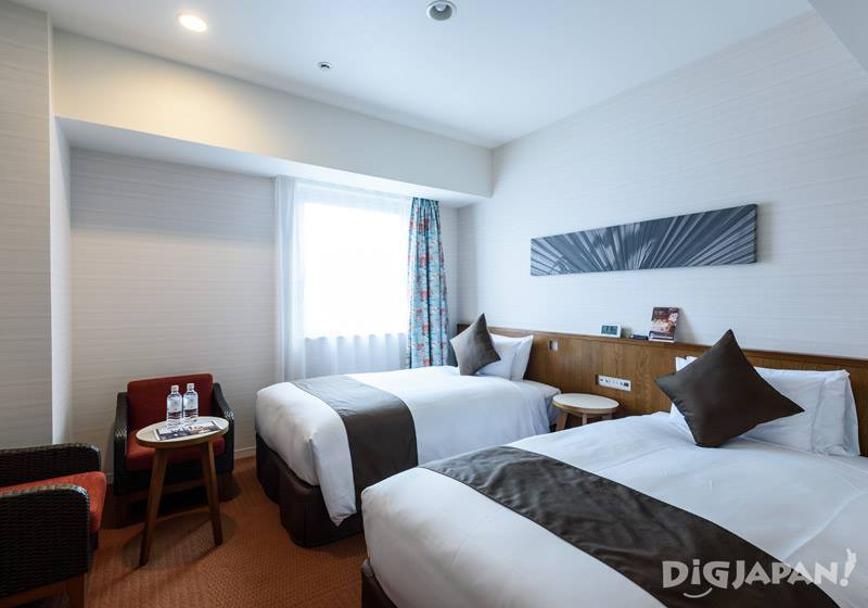 A twin room at Hotel Gracery Naha
