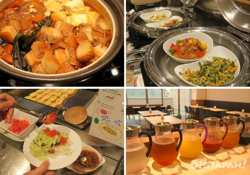 可充分享受沖繩料裡的自助式早餐_2