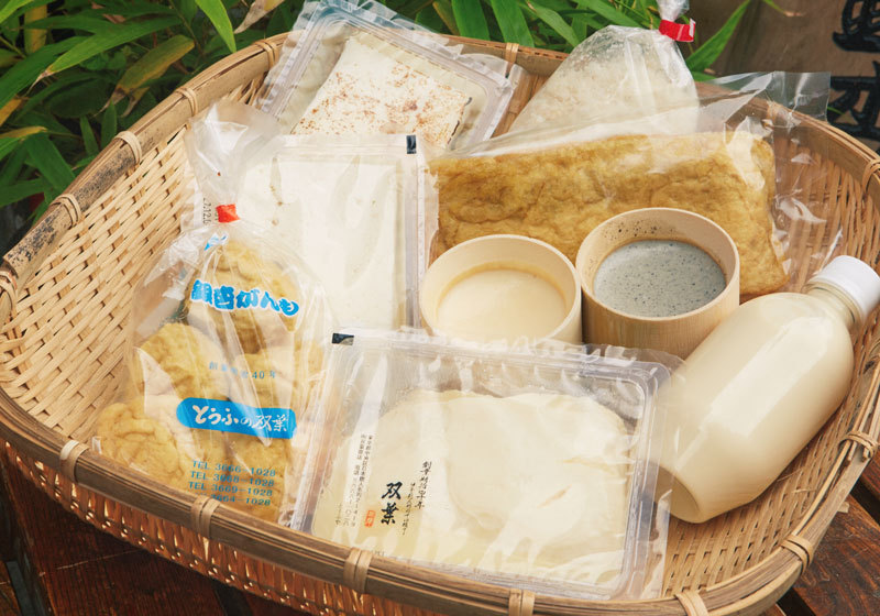 Fresh tofu and soy products from Tofu-no-Futaba in Tokyo