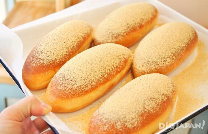 黄豆粉炸可培面包