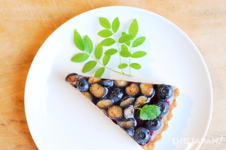 Blueberry tart at Cafe Slow