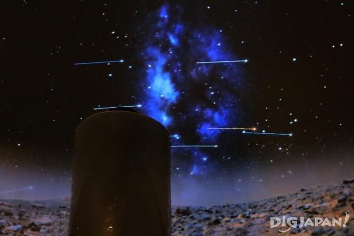 無論恒星還是微小星鬥都可清晰顯映的混合天象設備