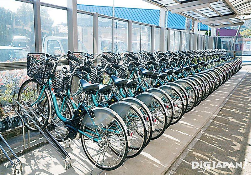 세토우치 예술제에서 전기자전거는 매우 유용