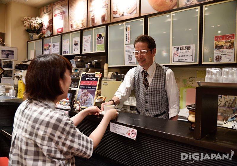 츠키지 시장 명물 커피 요네모토 커피