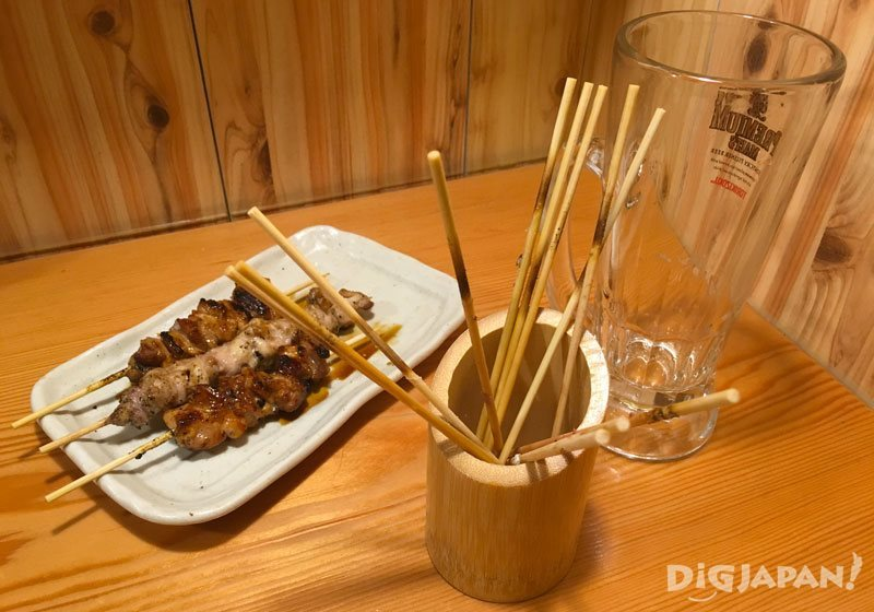 Where to put yakitori skewers
