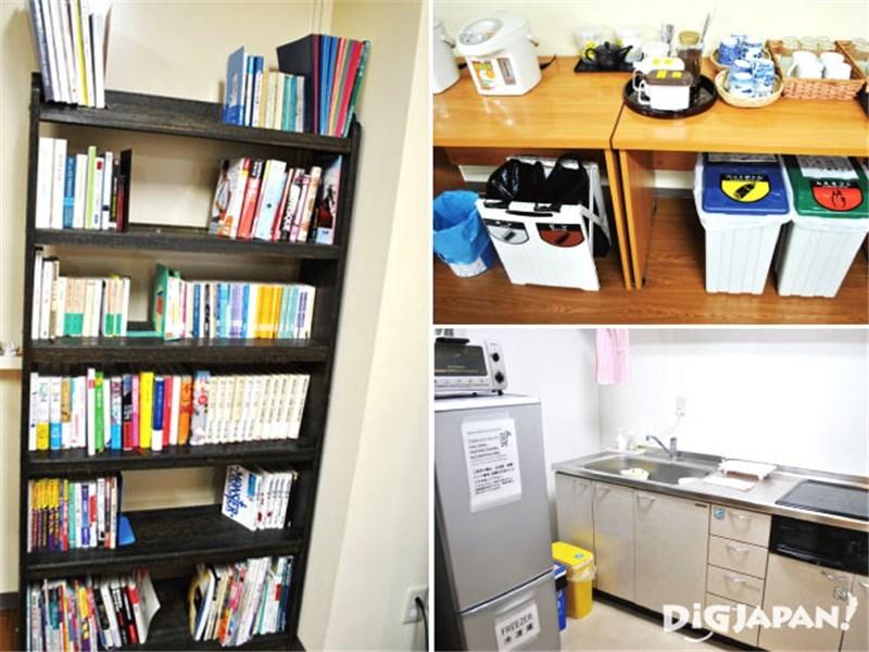 Tokyo Sumidagawa Youth Hostel_โถงชั้น2_มุมนั่งเล่น_ห้องครัว