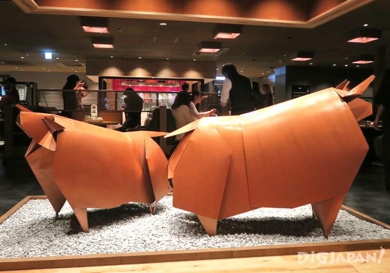 모모 파라다이스 소와 돼지 종이접기