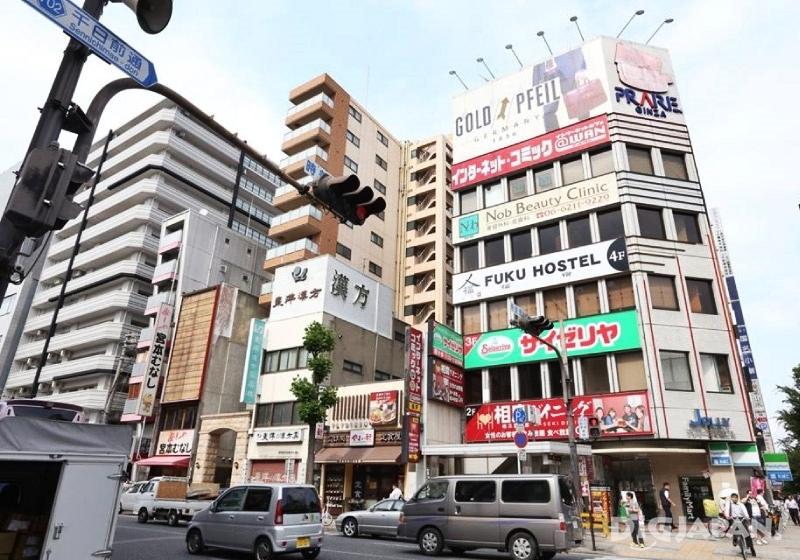 오사카 추천 게스트하우스 후쿠 호스텔 위치