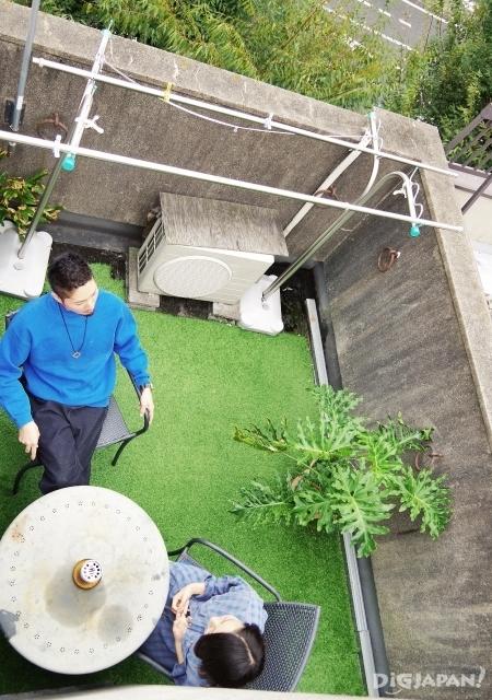 오사카 추천 게스트하우스 타니9 옥상
