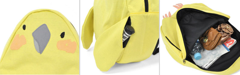 Budgie backpack close up